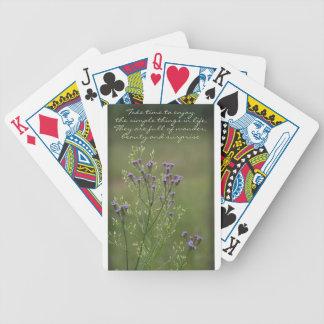 Jeu De Cartes Appréciez le poème simple de fleurs sauvages de