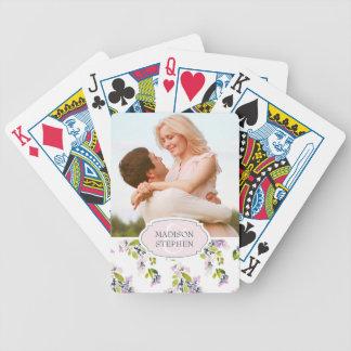 Jeu De Cartes Aquarelle florale sensible - photo de mariage