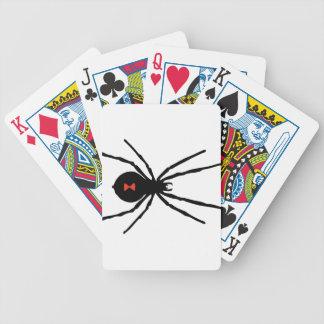 Jeu De Cartes Araignée éffrayante de veuve noire