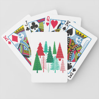 Jeu De Cartes arbres de Noël contemporains modernes