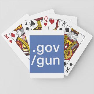 Jeu De Cartes Arme à feu de barre oblique de gouvernement de