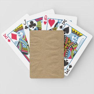 Jeu De Cartes Arrière - plan de papier d'emballage de Brown