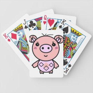 Jeu De Cartes art rose de porc