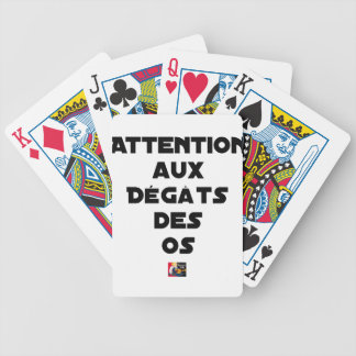 Jeu De Cartes ATTENTION AUX DÉGÂTS DES OS - Jeux de mots