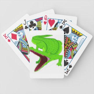 Jeu De Cartes bande dessinée d'alligator