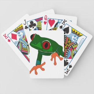 Jeu De Cartes Bande dessinée de grenouille verte