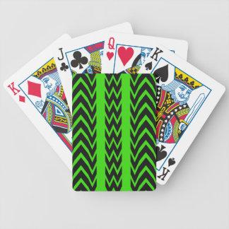 Jeu De Cartes Battements de coeur verts et noirs