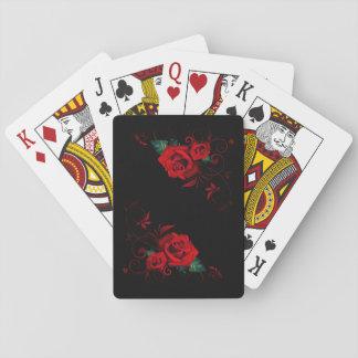 Jeu De Cartes Belles cartes de jeu de rose rouge