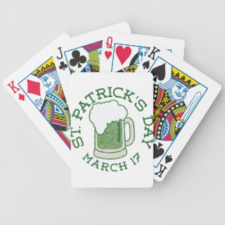 Jeu De Cartes bière verte affligée par st patrick