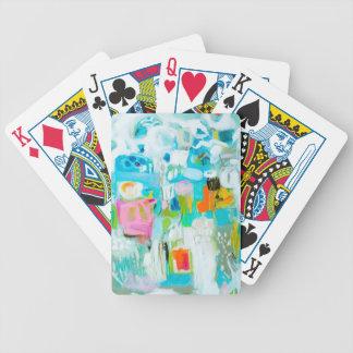Jeu De Cartes Bleu abstrait