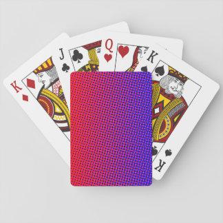 Jeu De Cartes Bleu comique d'impression et cartes de jeu rouges