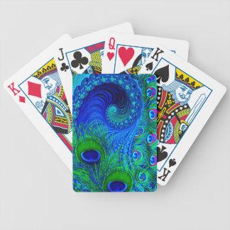 Jeu De Cartes Bleu de paon