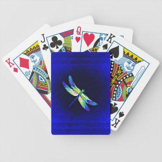 Jeu De Cartes Bleu électrique de libellule - personnalisez avec