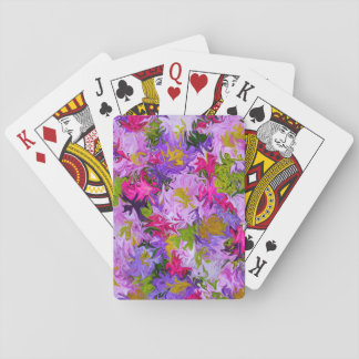 Jeu De Cartes Bouquet de conception florale d'art abstrait de