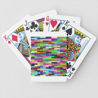 Jeu De Cartes briques multicolores