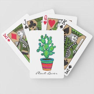 Jeu De Cartes Cactus magnifique d'aquarelle dans le beau pot