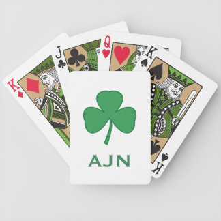 Jeu De Cartes Cadeau irlandais de cartes de jeu de shamrock