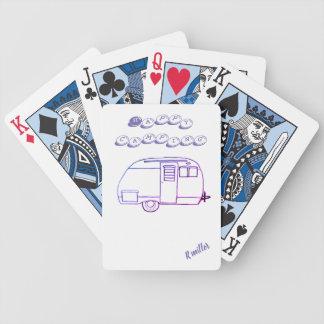 Jeu De Cartes Camping heureux dans des cartes d'amusement
