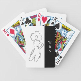 JEU DE CARTES CARDS_#1 CHIFFRE DE JEU CHIC DRAWING/MONOGRAM