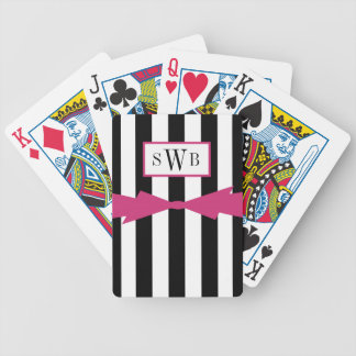 JEU DE CARTES CARDS_BLACK/WHITE DE JEU CHIC STRIPES/PINK