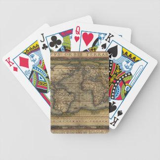 Jeu De Cartes Carte antique du monde