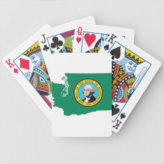 Jeu De Cartes Carte de drapeau de Washington