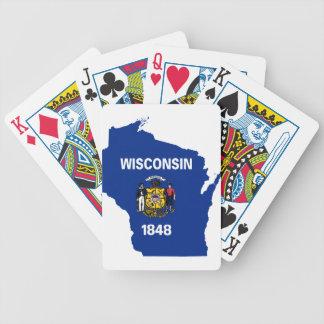 Jeu De Cartes Carte de drapeau du Wisconsin