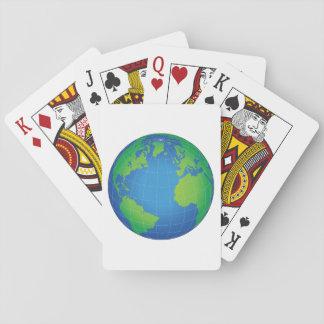 Jeu De Cartes Carte de globe du monde