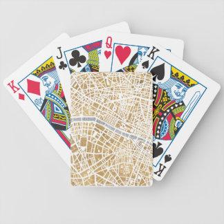 Jeu De Cartes Carte dorée de ville de Paris