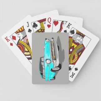 Jeu De Cartes Cartes 1957 de jeu de nomade dans bleu-clair