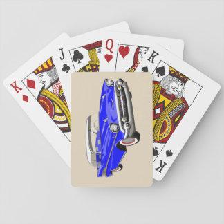 Jeu De Cartes Cartes 1957 de jeu de Shoebox dans bleu et blanc