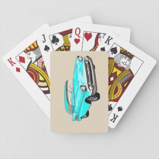 Jeu De Cartes Cartes 1957 de jeu de Shoebox dans le bleu d'Aqua