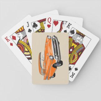 Jeu De Cartes Cartes 1957 de jeu de Shoebox dans l'orange