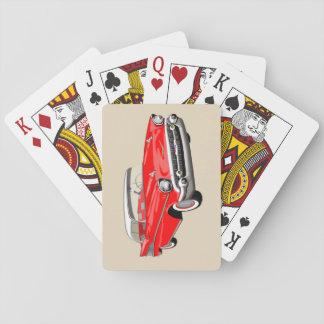 Jeu De Cartes Cartes 1957 de jeu de Shoebox en rouge et blanc