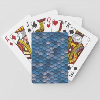Jeu De Cartes Cartes de jeu bleues chanceuses d'échelle de