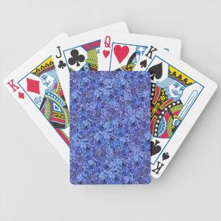 Jeu De Cartes Cartes de jeu bleues d'hortensia