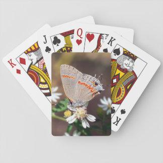 Jeu De Cartes Cartes de jeu bleues sombres de papillon de