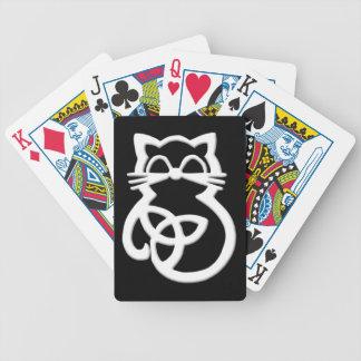 Jeu De Cartes Cartes de jeu celtiques de chat de noeud blanc de
