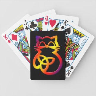 Jeu De Cartes Cartes de jeu celtiques de chat de noeud de