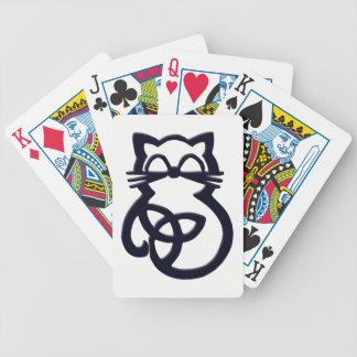 Jeu De Cartes Cartes de jeu celtiques de chat de noeud noir de