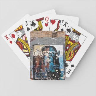 Jeu De Cartes Cartes de jeu classiques de graffiti de visage de