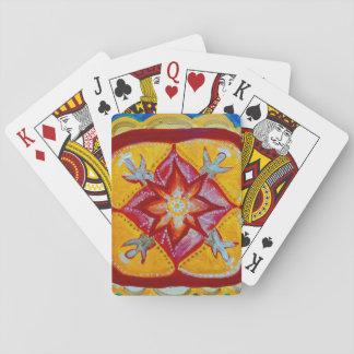 Jeu De Cartes Cartes de jeu classiques de mandala rouge
