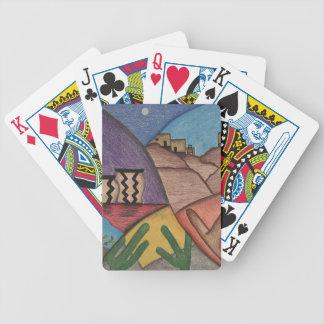 Jeu De Cartes Cartes de jeu colorées de désert de sud-ouest