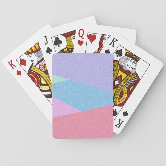 Jeu De Cartes Cartes de jeu colorées d'impression de conception
