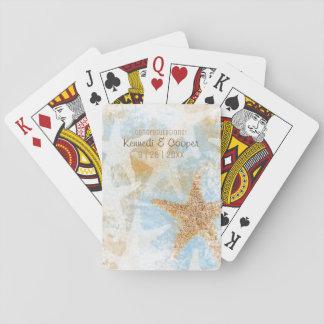 Jeu De Cartes Cartes de jeu côtières d'étoile de mer d'étoiles