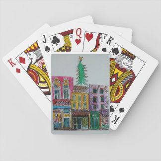 Jeu De Cartes Cartes de jeu d'arbre de Noël