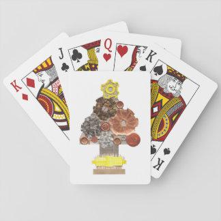 Jeu De Cartes Cartes de jeu d'arbre de Noël de Steampunk