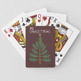 Jeu De Cartes Cartes de jeu d'arbre de Noël d'OL