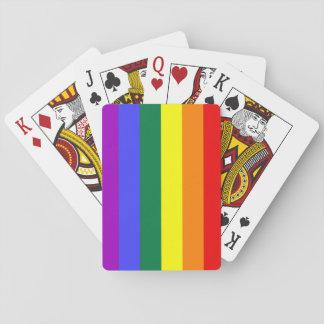 Jeu De Cartes Cartes de jeu d'arc-en-ciel de drapeau de fierté