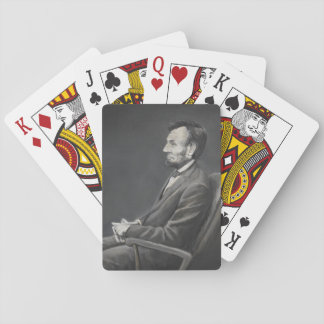 Jeu De Cartes Cartes de jeu d'art de portrait d'Abraham Lincoln